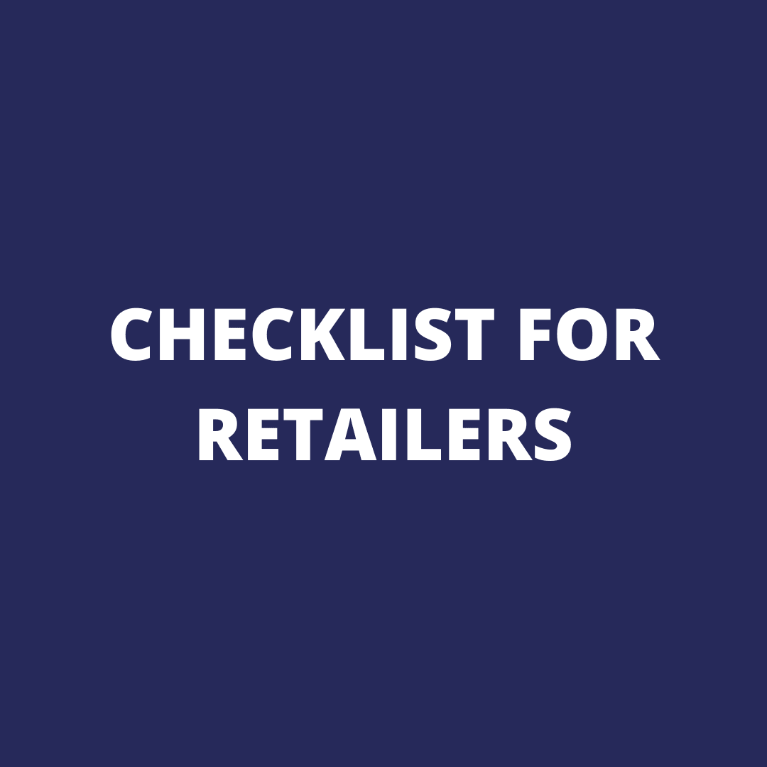 CHECKLIST FOR RETAILERS